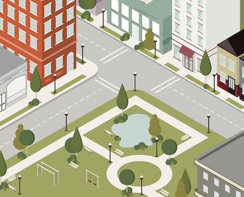 广场绿化施工