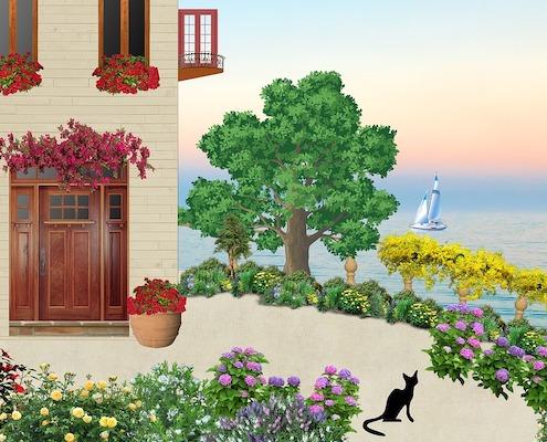 别墅绿化施工