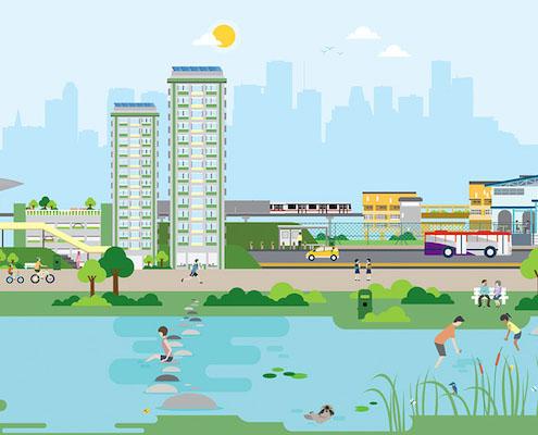 水系绿化施工